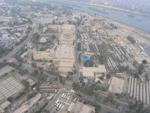 US Botschaft in Bagdad ..ein Stadtstaat so groß wie der Vatikan ...