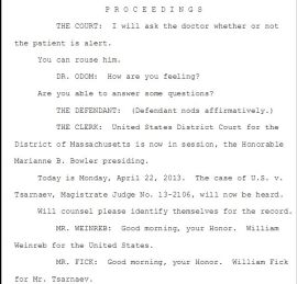 1 Transcript first hearing