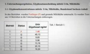 1 GLY im Urin SA