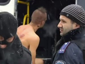 naked protestor police abuse