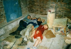 street children  where they sleep