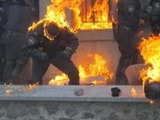 police burning
