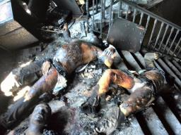 Odessa charred bodies on 3rd  floor without fire