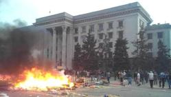 Odessa tents on fire