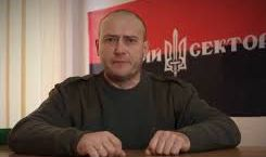 Yarosh with bandera colors