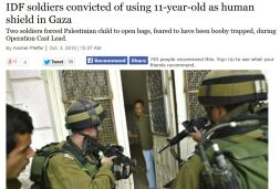 IDF convicted of human shields use