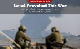 Siegman Israel provoked war
