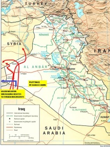 Saudi smuggling-routes to IS puppets in Iraq