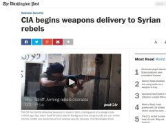 CIA ships weapons to Syrian Rebels