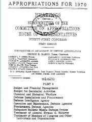 DoD ApprCom Congress 1970