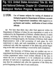 DoD Human experiments Bweapons