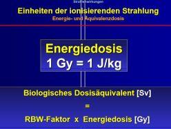 Energiedosis und RBW