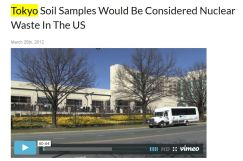 Gundersen Tokyo soil samples rad waste