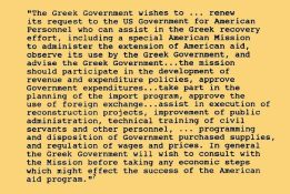 US Aid request Greece