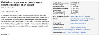Honeywell AP patent 7475851