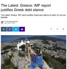 IMF justifies Greek stance AP