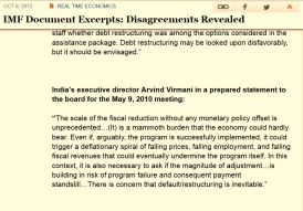 IMF minutes India warning