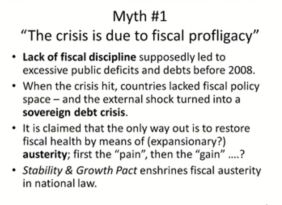 Myth 1 fiscal profligacy