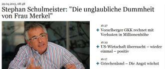 Schulmeister Dummheit Merkel