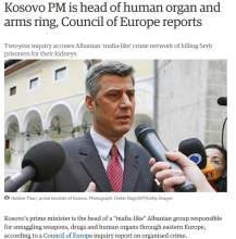 Thaci Kosovo gangster state organ trafficking