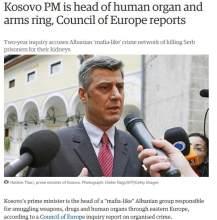 Thaci Kosovo gangster state organ trafficking