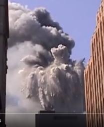WTC 1 disintegrates 9-28