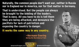 accept war goering