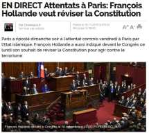 Hollande demands change of constitution