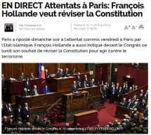Hollande demands change of constitution