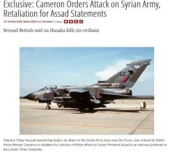 Cameron attacks syrian army