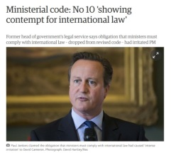 Cameron comtempt for intl law