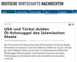 DWN US Turkei dulden Ölschmuggel
