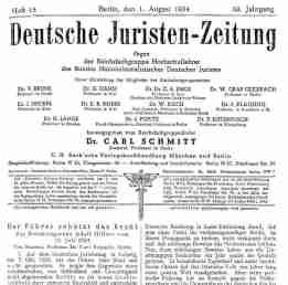 Schmitt und Führer-Recht