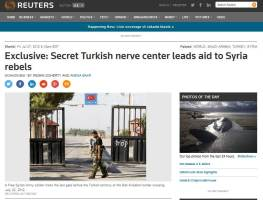 Reuters Turkey nerve center for IS support