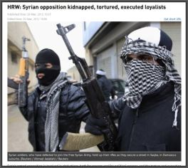 HRW syrian rebels terrorize loyalists