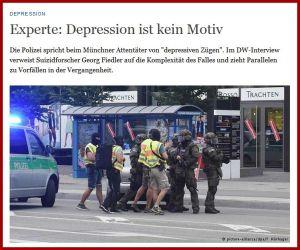 DW München Depression kein Motiv