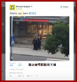 Gutjahr stehe vor dem OEZ wiped from twitter
