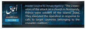 Amaq instant PR killing of priest