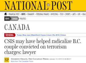 fabricating terrorists CSIS RCMP