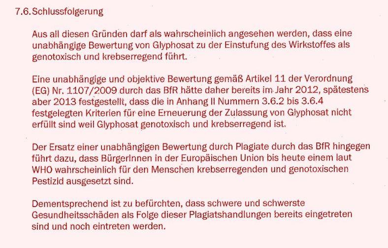 1 Conclusion Strafanzeige BfR EFSA