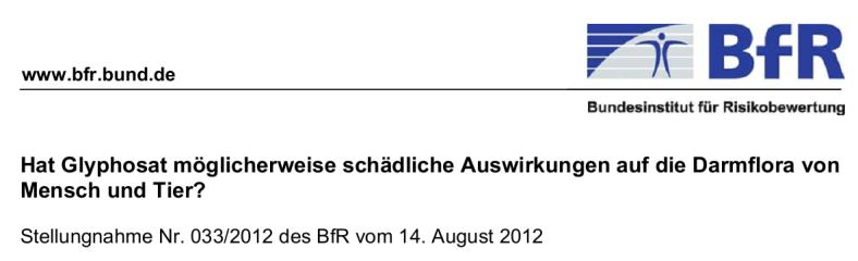 BfR Glyphosat AB Lüge 2012