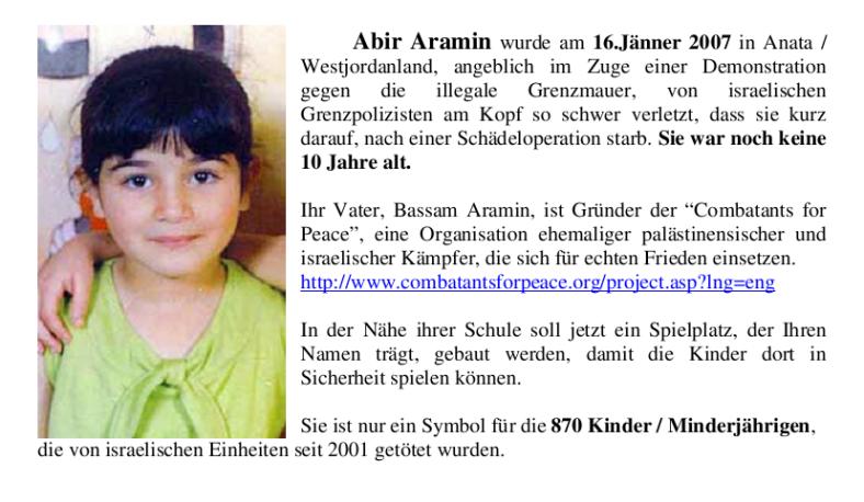 in memoriam Abir Aramin