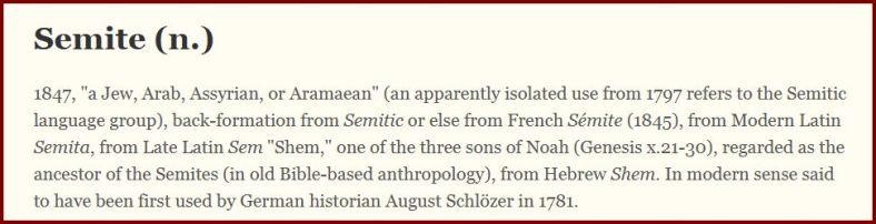 semite etymology