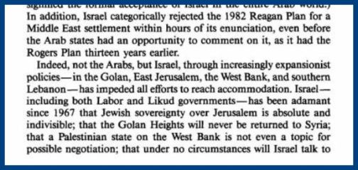Rubenberg Israel chose war 2
