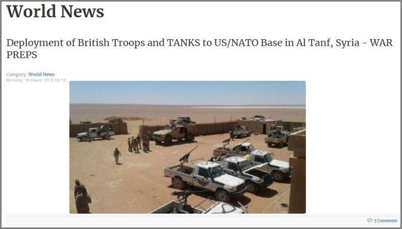 British troops Al Tanf 16 Mar