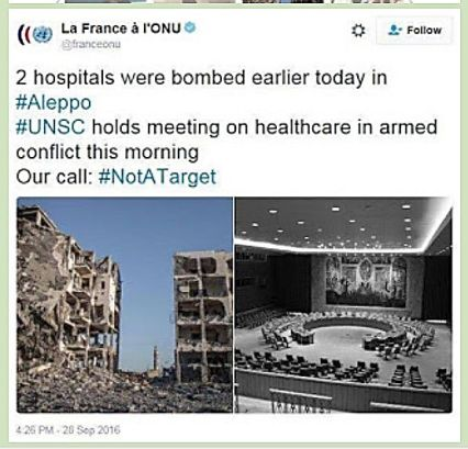 France lies at UN about Aleppo