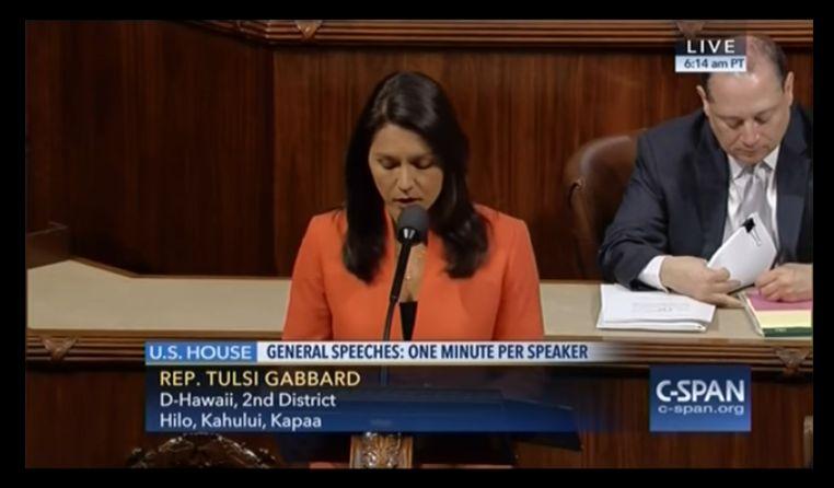 Tulsi Gabbard Stop arming terrorists 1 min