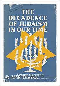 Decadence of Judaism MENUHIN