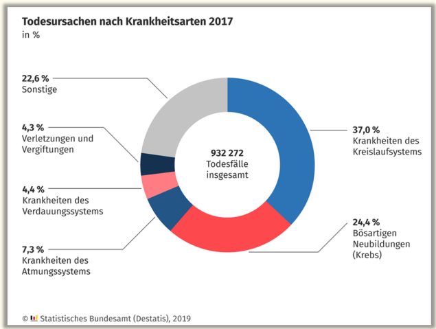 Major Causes of death Germany 2017