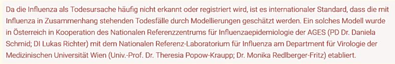 AGES Influenza Mortality Austria